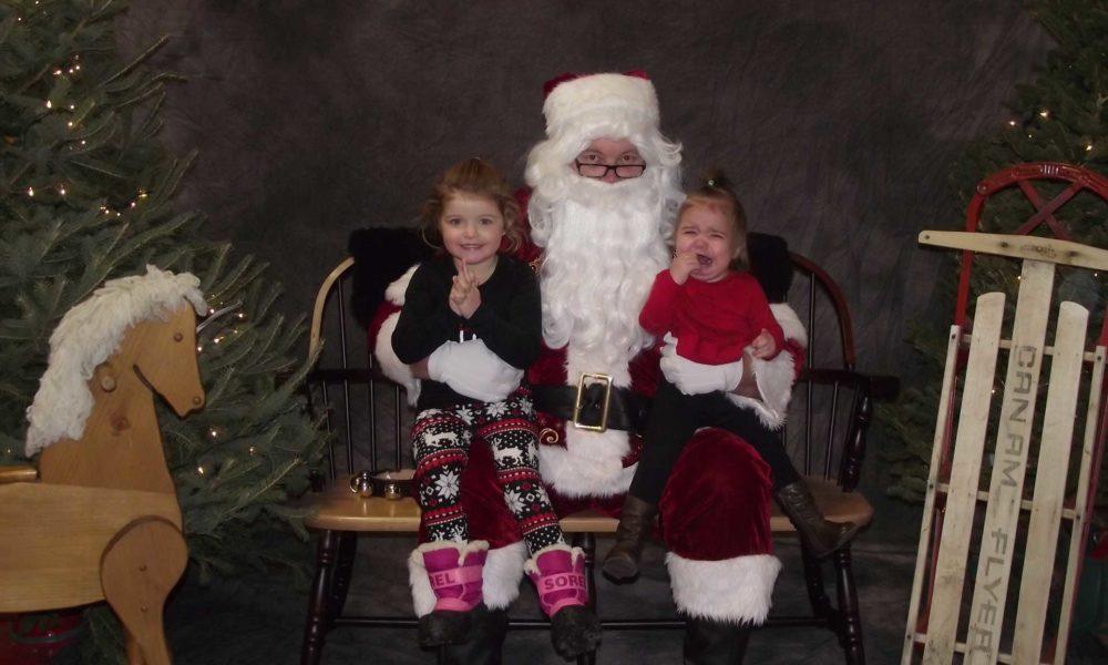 (Decorative Image: Children with Santa)